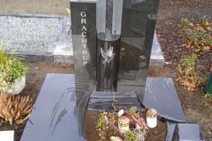 Grabstein Urnengrab mit Taube Gravur