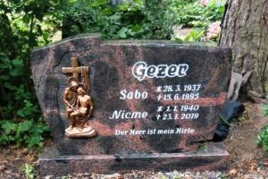 Gütersloh, Grabstein, Breitstein, Bronzerelief, Ornament