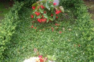 Sennefriedhof, Doppelgrab mit Ornament