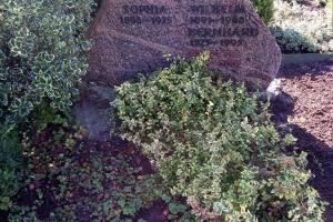 Albersloh, Grabstein, Felsen, Bronzeschrift