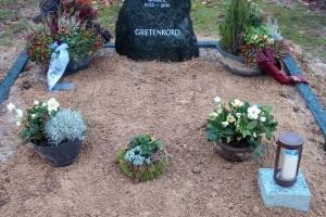 Angelmodde, Grabanlage, Grabstein, Findling, Felsen, Einfassung, Grableuchte