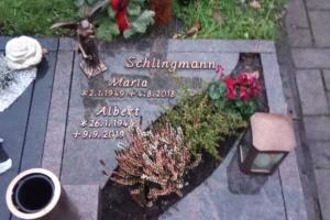 Sassenberg, Urnengrab, Abdeckplatte, pflegeleicht, Bronzeschrift, Bronzeengel, Grableuchte, Grabvase