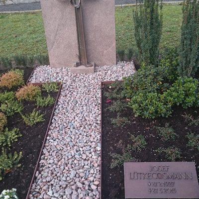Vorhelm - Grabstein mit Bronzetafel