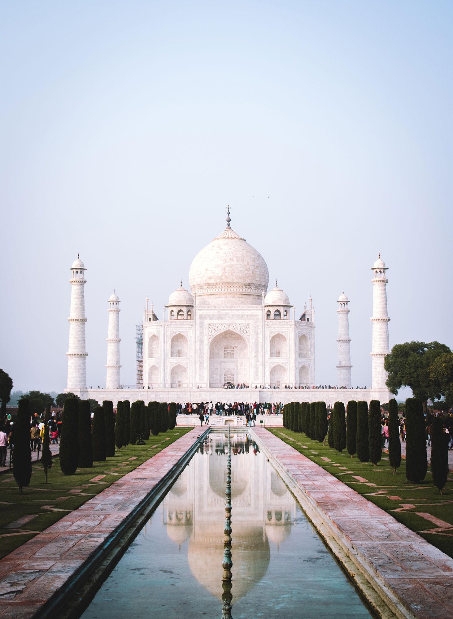 Bauwerke aus Stein Taj Mahal